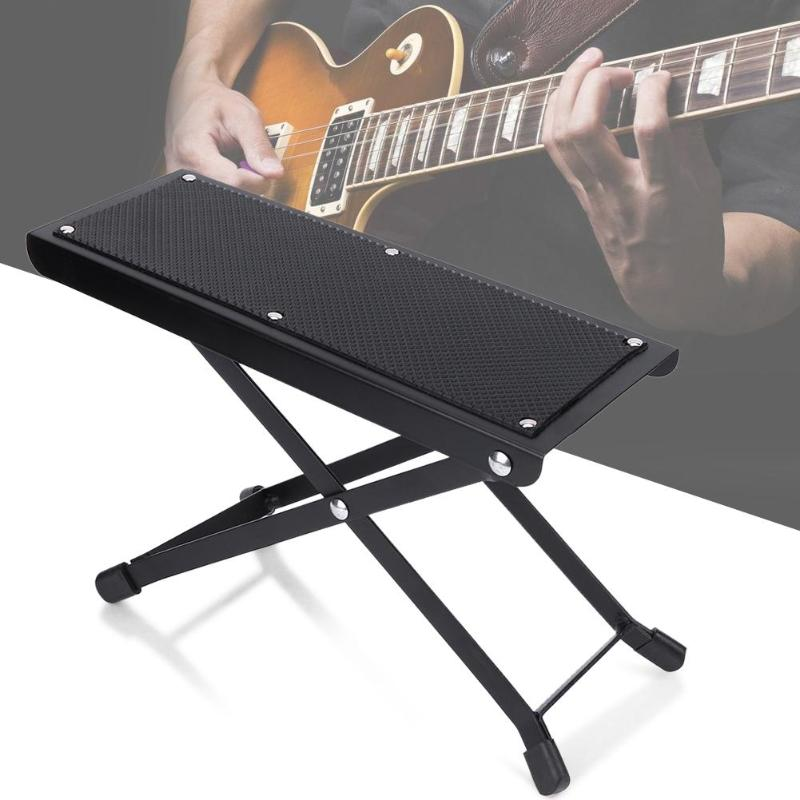Magnificent Us 2 01 40 Off Foldable Guitar Pedal Anti Slip Guitar Foot Rest Stool 4 Adjustable Height Levels Black Guitar Accessories Parts In Guitar Parts Squirreltailoven Fun Painted Chair Ideas Images Squirreltailovenorg