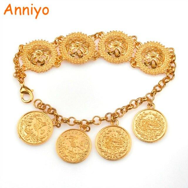 Anniyo Gold Farbe Türkei Münzen Armband Für Frauen Türkischen Charme