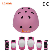 LANOVA Kids Youth Protective Gear Set Knee Elbow Pads with Wrist Guards Bicycle Helmet for Cycling Skateboarding Rollerblading