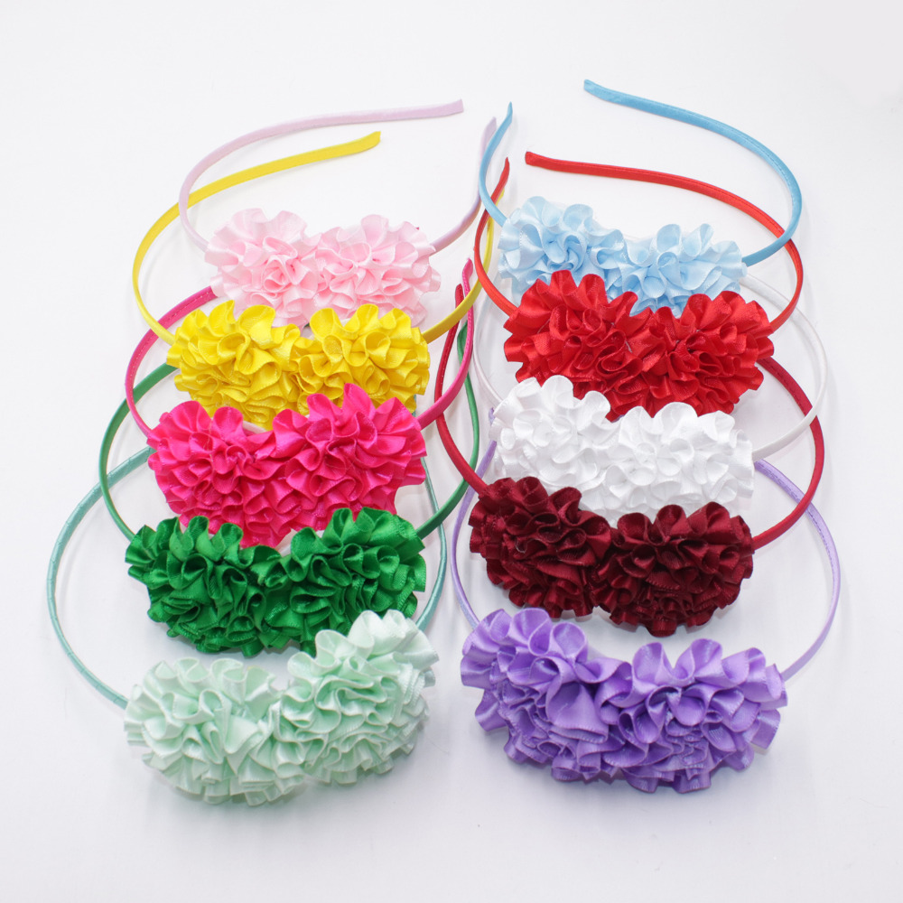 Good Deal 2018 Sweet Colors Flowers Hairband For Girl Cute Silk
