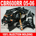 7gifts 100% Injection motorcycle parts for HONDA F5 2005 2006 CBR 600RR 05 06 CBR600RR fairings black repsol fairing body kits