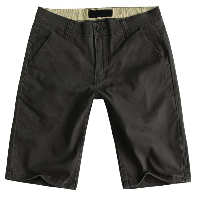 Shorts Bermuda Cinza Escuro de Alta Qualidade do Algodão dos homens Casual Verão Macacão de Carga Calças Curtas Bermuda Masculina Tamanho Grande