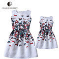 Dresses For Girls Mother Daughter Dresses Family Matching Clothing Girls Sleeveless Formal Print A-line Dress Summer