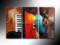 100% Hand painted Abstract landscape Wall home Oil Painting canvas 3pcs/set mixorde wood framed living room decoration pictures