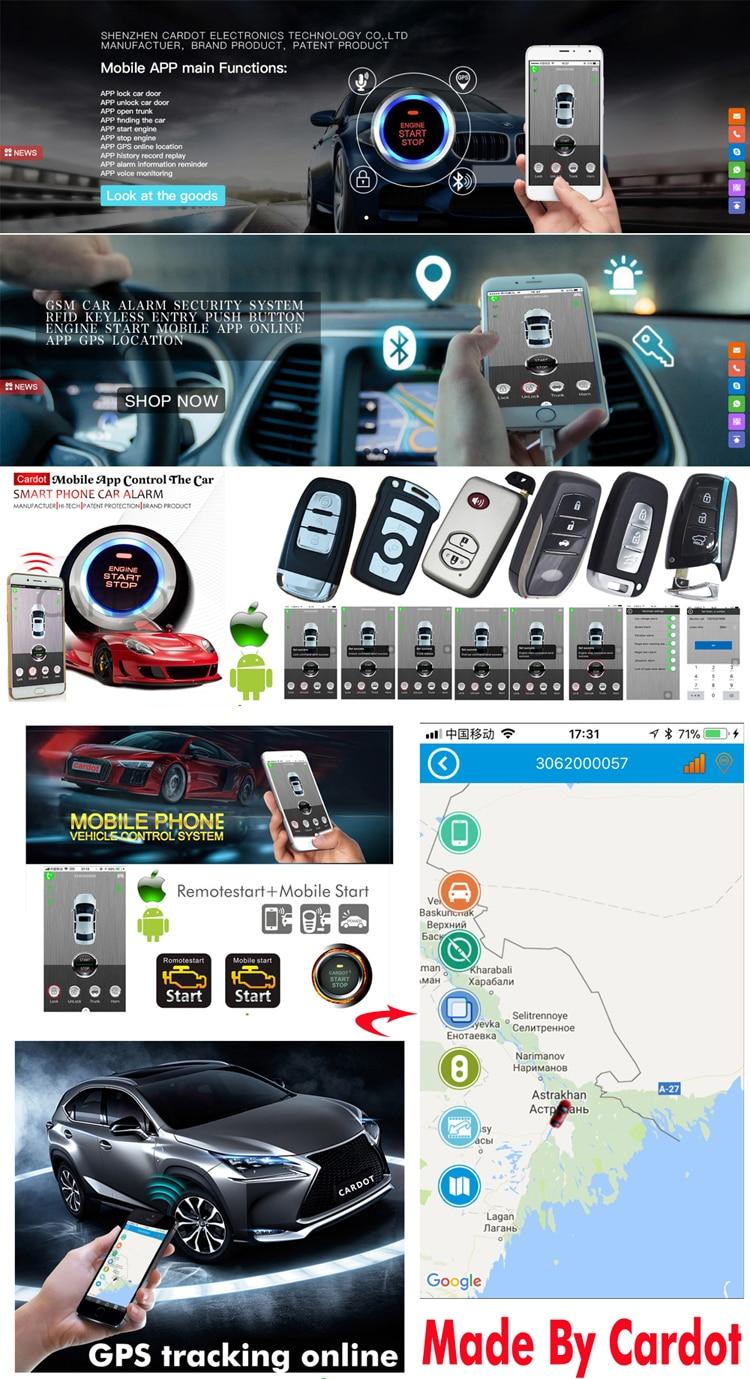automotive intelligent rfid car alarm system with push button start ...