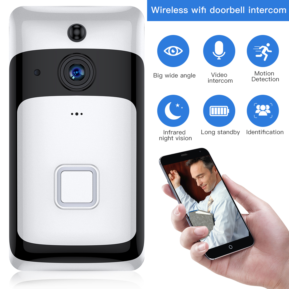 SDETER Wireless IP Wifi Video Door Bell Video Intercom WIFI Doorbell Camera Night Vision PIR Alarm Security Camera Android IOS