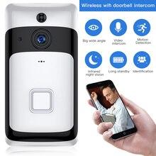 SDETER bezprzewodowa IP Wifi wideo dzwonek do drzwi wideodomofon wizjer wbudowaną kamerą wi fi widzenie w nocy Alarm PIR kamera ochrony android ios