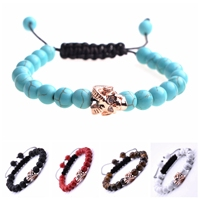 10PCS/lOT Fashion 8MM Natural Stone Woven Friendship Bracelets For Women Men Tiger Eyes Agates Beaded Yoga Pulseira