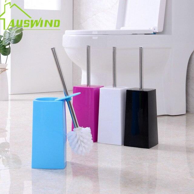 Paslanmaz çelik banyo tuvalet fırçası seti, ücretsiz delme, tuvalet fırçası yumuşak saç hiçbir ölü köşe yaratıcı tuvalet fırçası raf