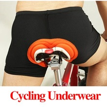 Hot Sale Unisex Black Bicycle font b Cycling b font Comfortable Underwear Sponge Gel 3D Padded
