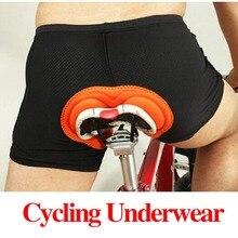 Venta caliente Unisex Negro Bicicleta Ciclismo Ropa Interior Cómoda Esponja Gel 3D Bike Short Acolchado Pantalones Cortos de Ciclismo Tamaño S-XXXL