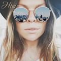 New óculos de sol das mulheres designer de marca do vintage retro rodada óculos de sol óculos gafas oculos originais 3447