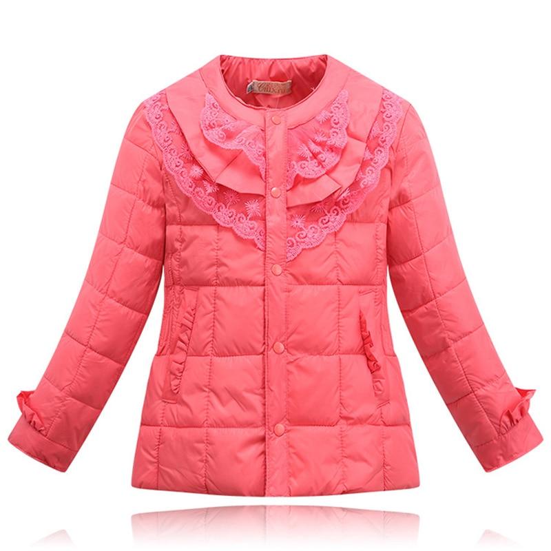 Sonbahar Kış Yeni moda kız giyim bebek wadded ceket çocuk pamuk-yastıklı ceket kız için Dantel Çiçek kat aşağı