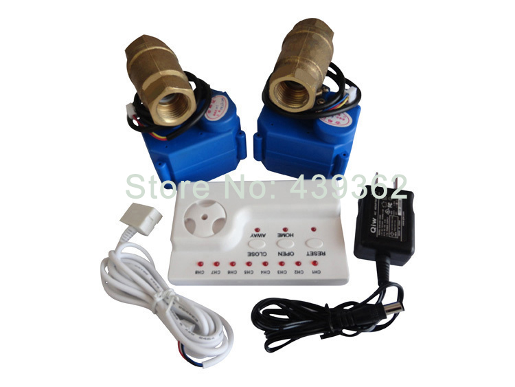 Water Leak Detection Alarms System with Two 3/4 Copper Valves DN20 For Cold and Hot Water Auto Lock Switch Prevent Water Flood plagiarism detection system for afghanistan s national languages