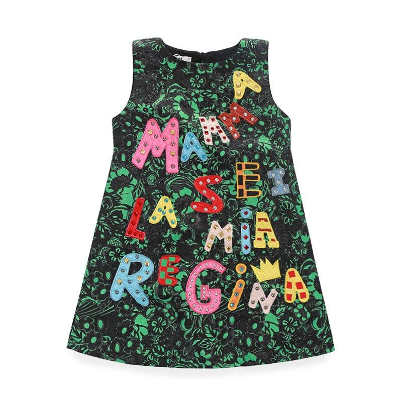 2018 Nueva ropa de las muchachas estilo europeo 2-10T sin mangas - Ropa de ninos - foto 1