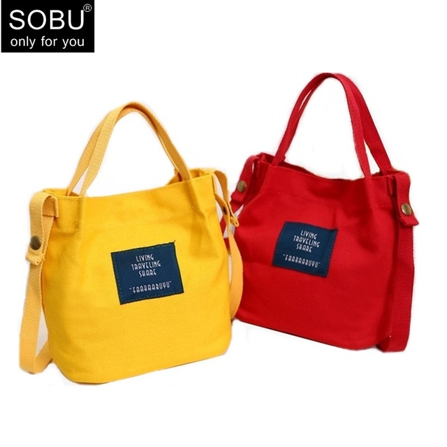 d4dc1bd69e28 2018 NEW Hot Lady Canvas Handbag Mini Single Shoulder Bag Crossbody Messenger  Bags Women Bucket Bag