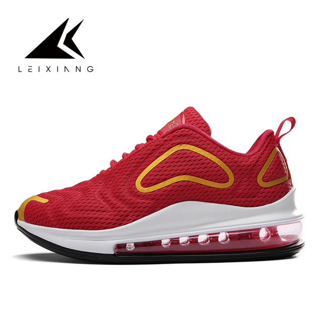 Men Sport Shoes 2019 Brand Running Shoes Breathable Zapatillas Hombre Deportiva Air Red Men Footwear Trainer Sneakers Size 47