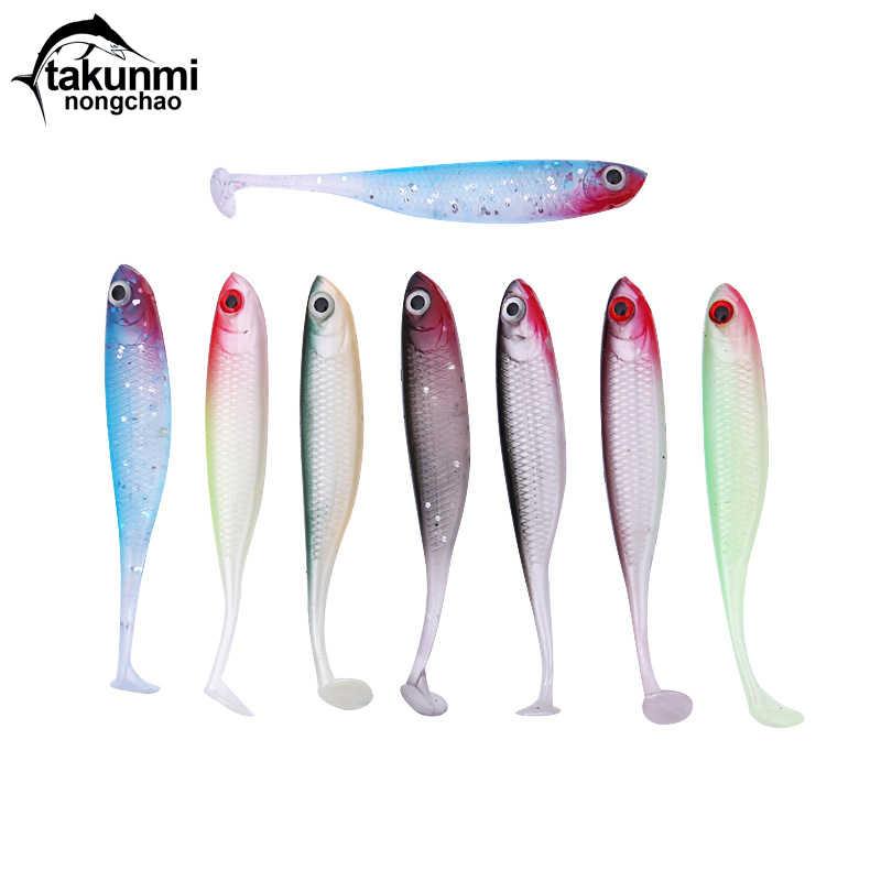 2019 Новинка T Tail 1 шт. мягкая Рыболовная Приманка 7 цветов Bionics Bait Easy Shiner 70 мм 2,5 г плавающие силиконовые HS-12