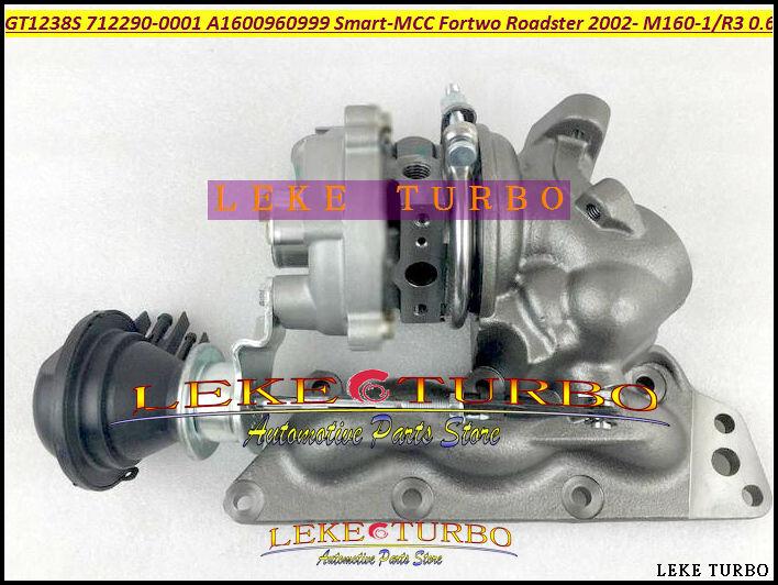 GT1238S 712290 712290-5001 S A1600960999 Turbo Für Smart-MCC Smart Fortwo Roadster 2002-06 M160-1 M160 m160R3 3 Cyl 0.6L Benzin