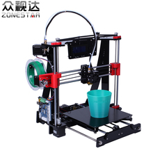 Nueva llegada del envío libre precio bajo marco de acrílico reprap prusa i3 impresora de Alta Precisión 3D Filamento de Regalo kit DIY LCD alimentador