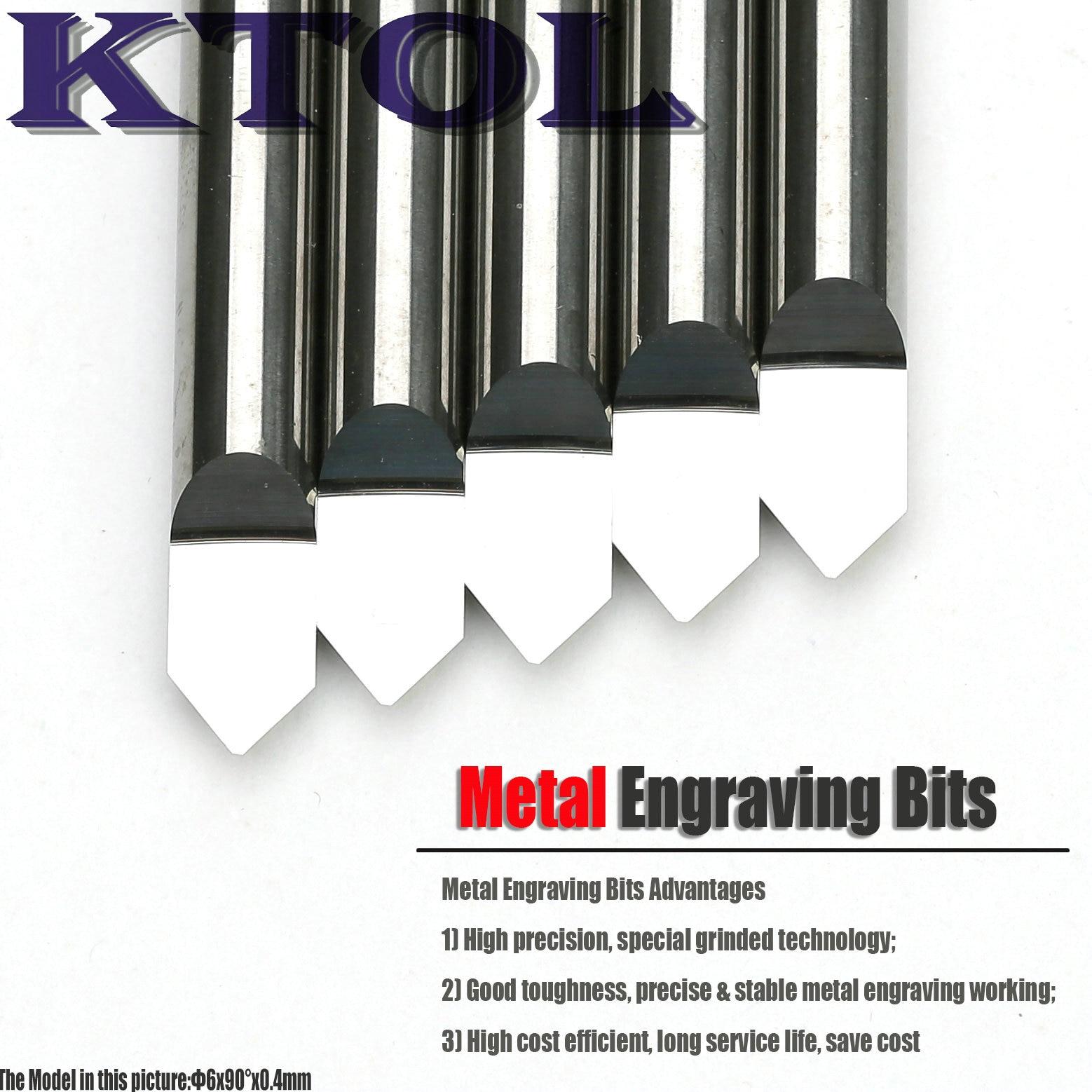 90 Degree 6MMx 0 4MM V Shape PCB CNC Carbide Engraving Bits Milling Cutter for Metal