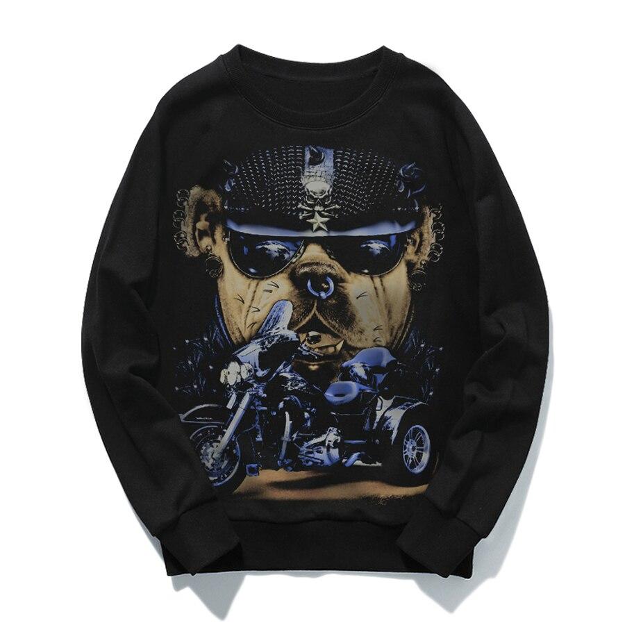 Manches longues grand Vintage hommes Sweatshirts sans capuche Anime 3d sweat hommes Hip Hop Sudadera Hombre Streetwear 6H011