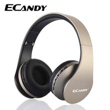 ECandy Sans Fil Bluetooth Casque Antibruit Super Bass Music Casque Micro Pliable Casque pour Smartphones Écouteurs