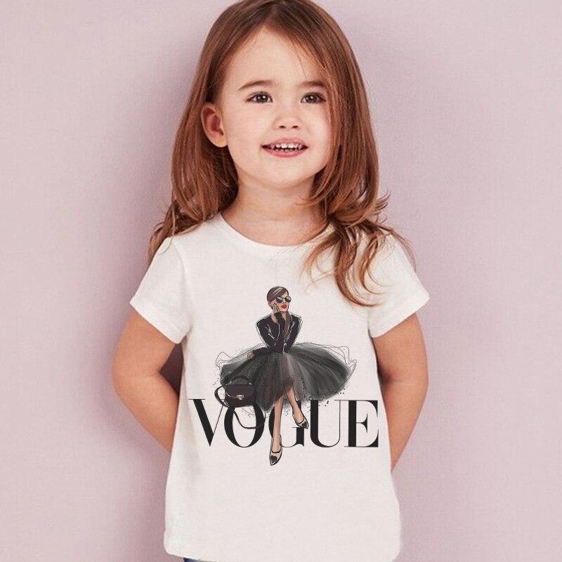 Футболка для девочек с принтом в стиле «Харадзюку», модный топ для девочек, Повседневная футболка с рисунком для девочек, детская футболка с короткими рукавами и круглым вырезом|Тройники| - AliExpress