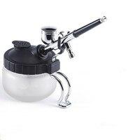 LIJIAN New Hot Sales Airbrush Cleaning Pot Stabilizer Glass Jar Bottles Holder Paint Station Filter Repair