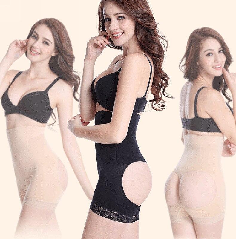 High Waist women body shapers 4 bone butt lifter body shaper butt enhancer panty booty lifter with tummy control 812