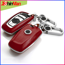 Cow leather +ABS One key Star Type For B.M.W 1 2 3 4 5 6 7 Series X3 X4 Cover protect shell Key Case