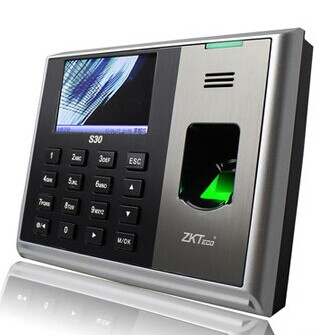 ZK tcp/ip sub fingerprint time attendance 3200 uses capacity fingerprint time clock time recorder S30 k14 zk biometric fingerprint time attendance system with tcp ip rfid card fingerprint time recorder time clock free shipping