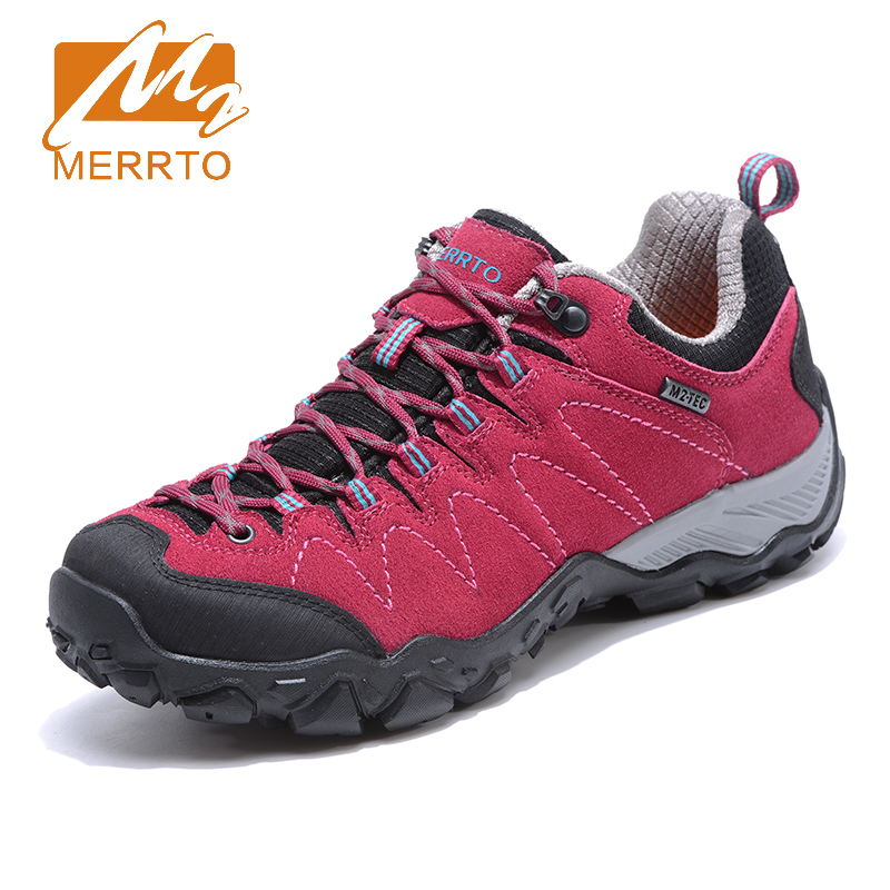 2017 Merrto Womens Breathable Walking Shoes Outdoor Climbing Sports Shoes Non-slip Travel Shoes For Women MT18705 2018 merrto womens outdoor walking sports shoes breathable non slip travel shoes for women purple rose red free shipping mt18665