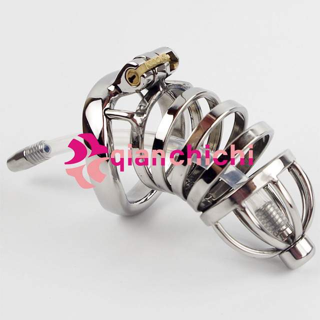 New Male chastity device stainless steel metal penis lock chastity penis ring chastity belt men