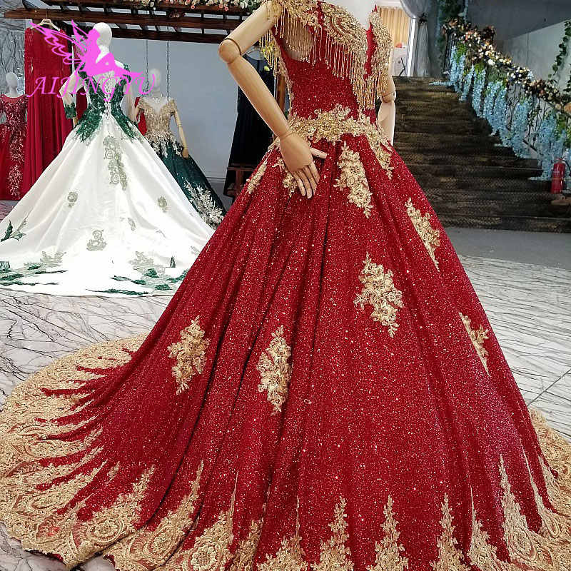 AIJINGYU Pakistani Wedding Dresses Princess Gown Color