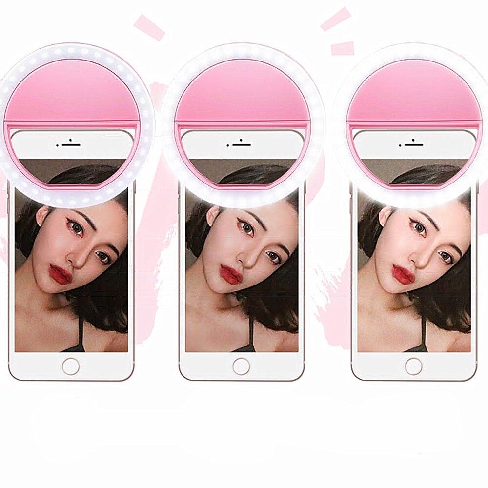 2018 New Portable Universal Selfie Ring Flash Led Light Lamp Mobile Phone Lens LED Selfie Lamp Ring Flash For Iphone For Samsung