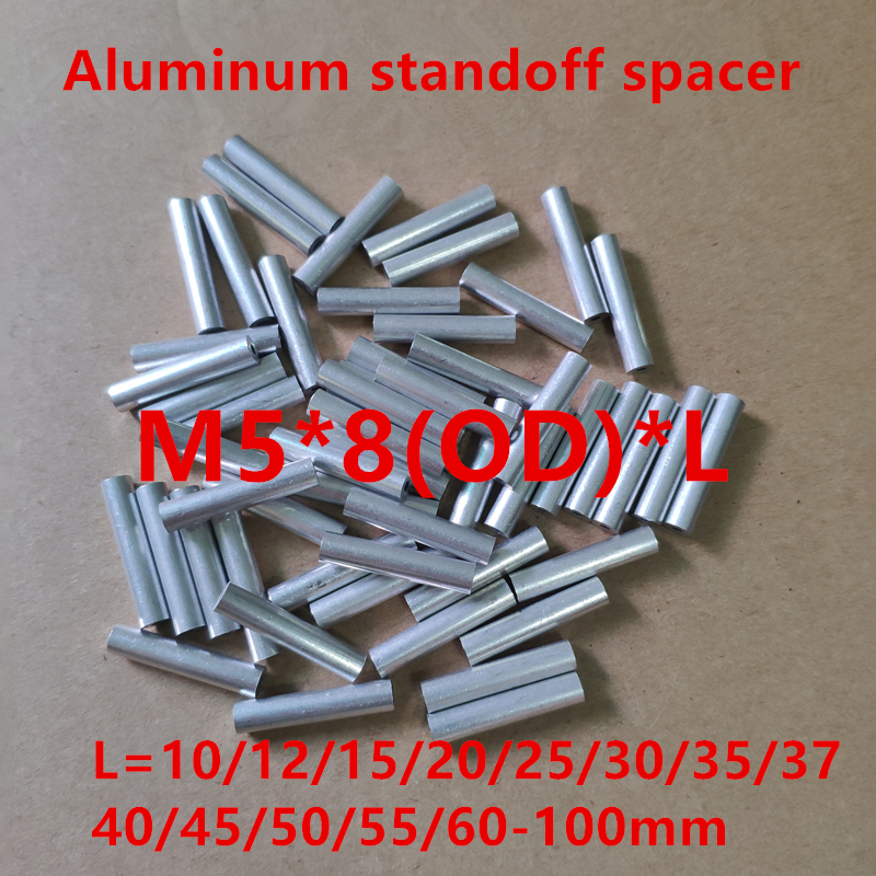3//8 Length, 10 Aluminum Spacer 3//8 OD x 3//16 ID x Many Lengths Round by Metal Spacers Online