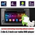 Melhor venda Quad Core Android 6.0 Jogador Do Carro DVD GPS Wi-fi estéreo Rádio controle de volante apoio câmera traseira