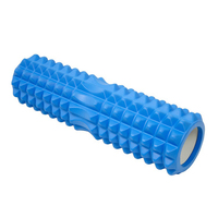 45*14 Size Matrix Massage Foam Roller Blue Yoga block Fitness Pilates Yoga Column Gym Equipment EVA top + PVC tube/EVA top + ABS