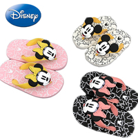 2018 Disney Children's Slippers Home Bathroom Cartoon Mickey Boys Girls Slippers Non Slip Bathroom Beach Minnie Shoes Flip Flops