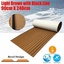 Upgraded Boat Teak Decking Sheet Yacht Marine Flooring Non-slip Carpet Mat 90cm240cm/35.4