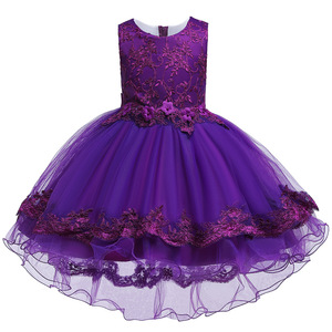 Image 2 - 2019 Kids Tutu Birthday Princess Party Dress for Girls Infant Lace Children Bridesmaid Elegant Dress for Girl baby Girls Clothes