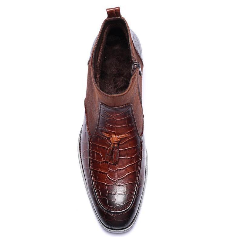 Zapatos En Ocasional Vestido Botines Chocolate Negocio Hombre De Pies Oxford Punta Los Hombres Patchwork Classique BaqrB0w