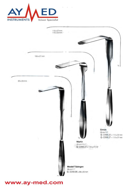 Any 3 Pieces 5 Set Simon & Tubinger And Martin Vaginal Retractors - Wound Retractors Surgical Instruments Scissors exit wound