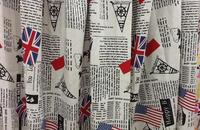 Wholesale Elastic Newspaper Hemp Tulle Fabrics Tablecloth Sofa Print Satin Floral Tweed Cheap Silk Shirt Cotton