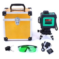 Green Laser Level 3D 12 Lines Green Beam Powerful Laser Line Self Leveling 360 4 Horizontal And 8 Vertical Cross