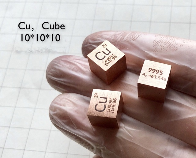 Pure 9995 Cu Copper Cube Block Bulk Periodic Table Of Rare Earth