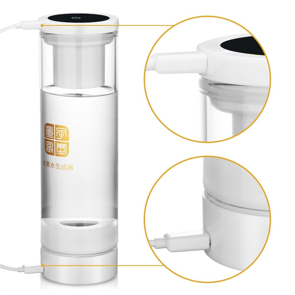 IHOOOH Molecular Resonance MRETOH 7.8Hz and Hydrogen Rich Generator Integrated Machine bottle 600ml Glass cup water Ionizer