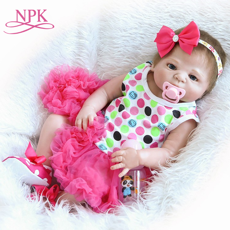 NPK reborn doll with soft real gentle touch 22inch silicone vinyl lifelike newborn baby doll children Christmas Gift 22inch 55cm reborn baby doll silicone vinyl soft real touch with soft mohair lifelike newborn baby christmas gift baby alive