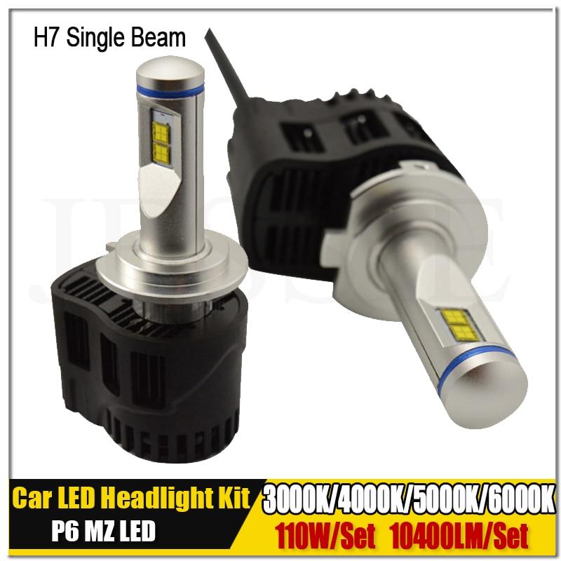 Pair 110W 10400LM P6 MZ H7 Canbus Car LED Headlight Kit Auto Truck Fog Head Light Bulb 6000K 5000k 4000k 3000K 12V 24V 30V txvso8 110w pair h1 cob led headlamp light beam car led headlight bulb kit white 6000k 9200lm auto led head lamp light source